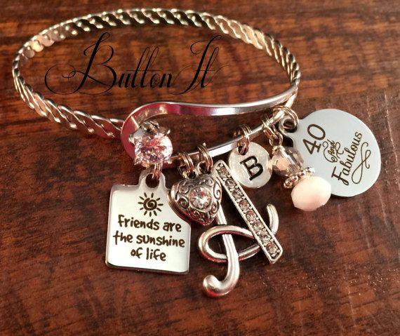 Best Friend Gift Friendship Bracelet Friend Birthday Gift Etsy 40th Birthday Gifts For Women Gifts For Friends Best Friend Gifts