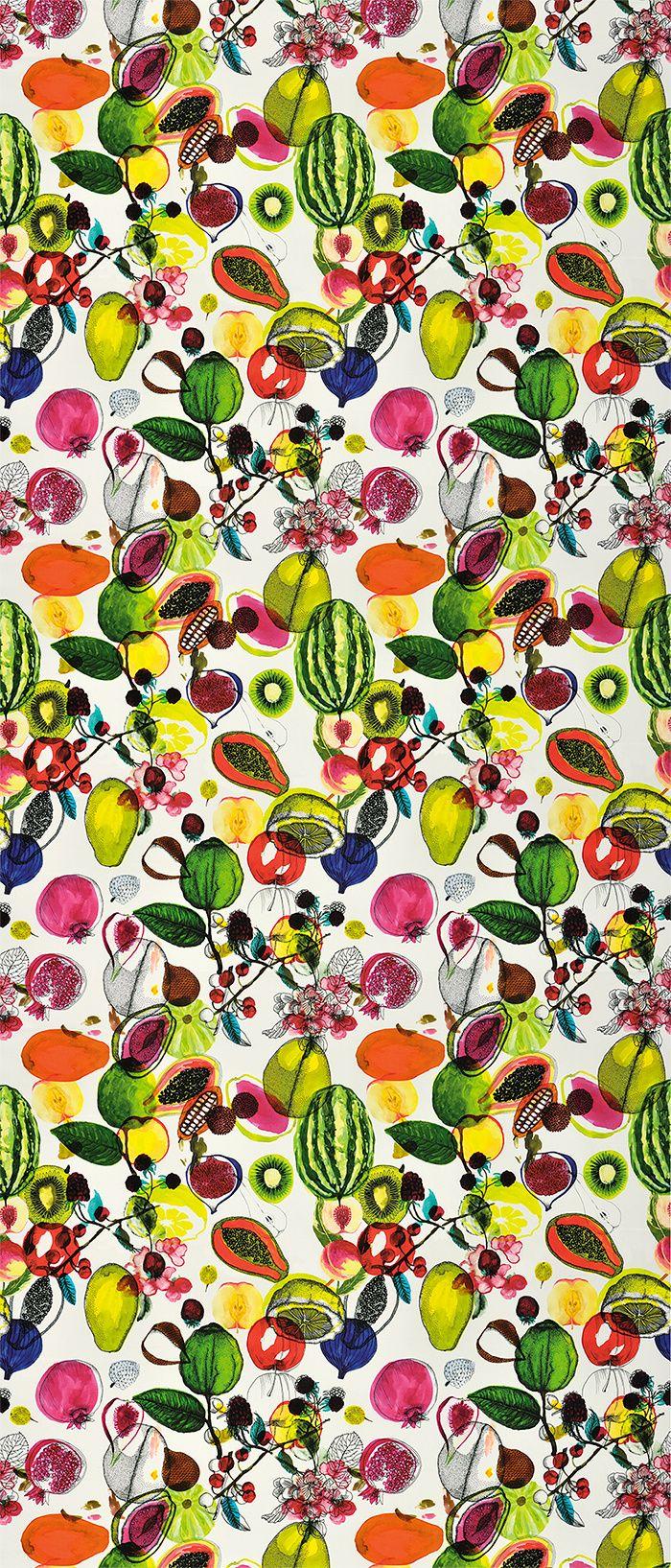 Nature psychedelique : Tissu Manaos Perroquet collection Nouveaux mondes, Christian Lacroix (Designer's guild).