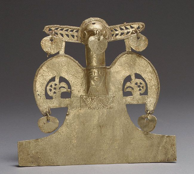 Bird Pendant |  9th–16th century | Colombia; Muisca | Cast gold