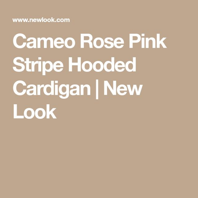 Cameo Rose Pink Stripe Hooded Cardigan | New Look