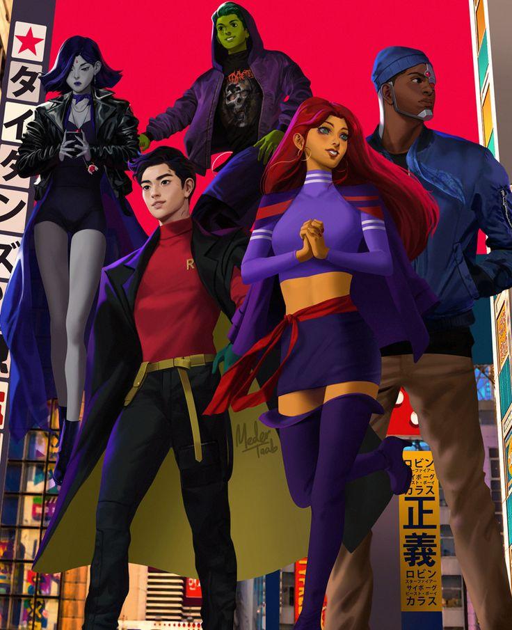 """extraordinarycomics: """"Teen Titans by Meder Taab. """""""
