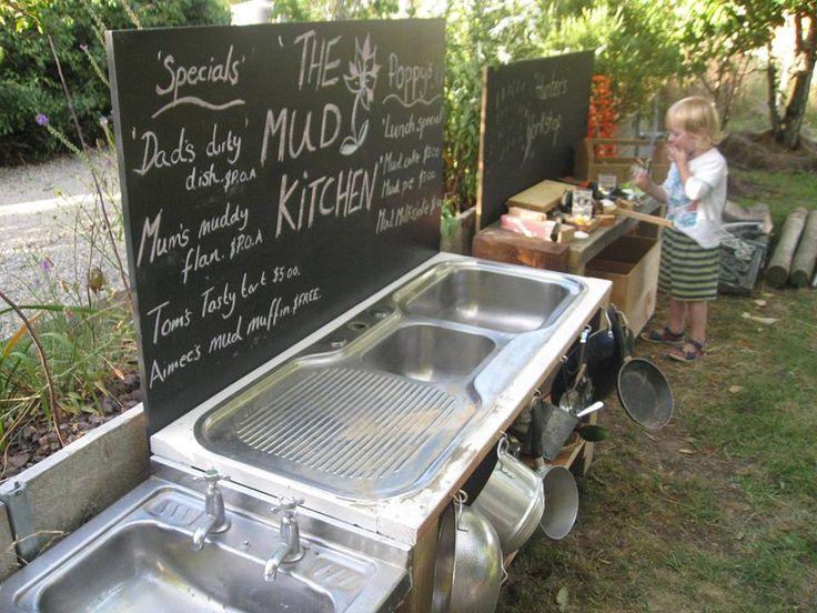 A modern mud kitchen! ≈≈ Nature's Play Preschool -Pegasus  ≈≈