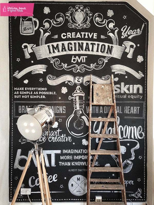 chalckboard wall vintage style