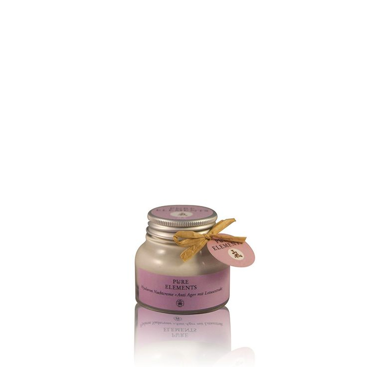 Pure Elements Hyaluron Nachtcrème Anti-age (50ml)  http://www.purelements.nl/product/hyaluron-nachtcreme/