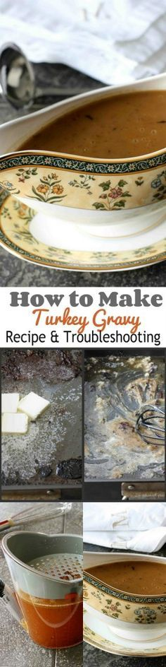 How to Make Turkey Gravy: Recipe & Trouble Shooting #Thanksgiving