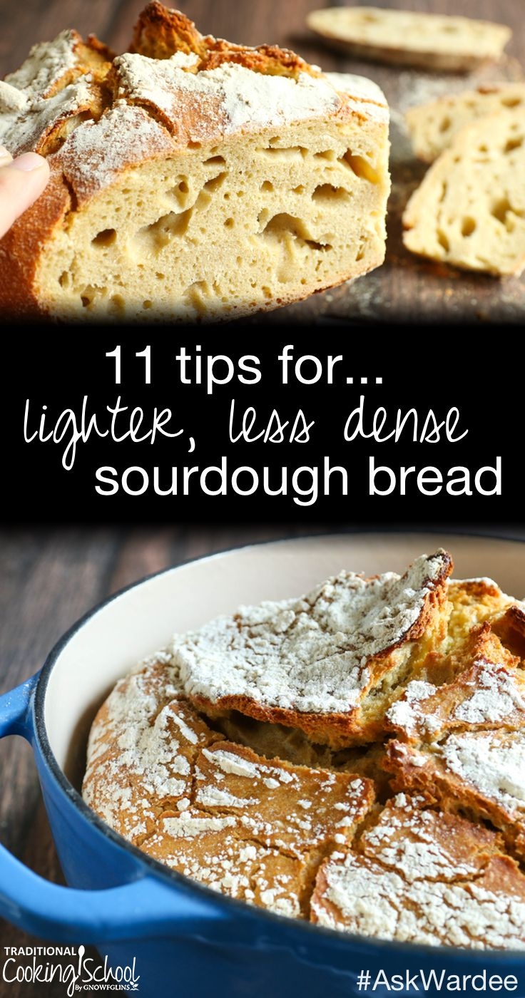 """""""Why, oh why, can't I just bake a loaf of lighter, less dense sourdough bread?"""" This is something that every sourdough baker faces...including me. Watch, listen, or read for my 11 tips for less dense sourdough bread!   AskWardee.tv"""