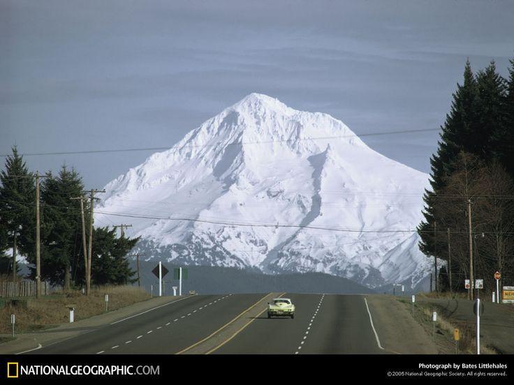 Mt Hood from Hwy 26 outside Portland, Oregon -1969 ...