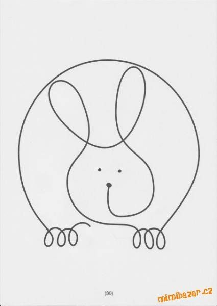 králík - jedním tahem