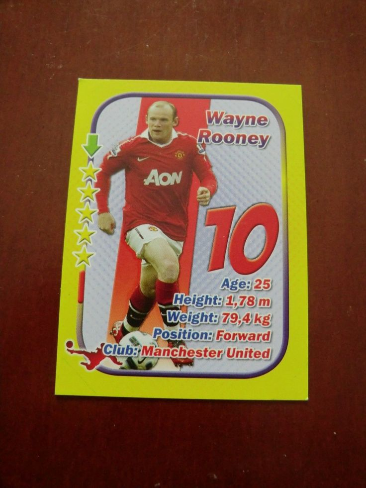 WAYNE ROONEY Manchester United Everton England #NN 2010 STARS 3x1 Aquarius | eBay