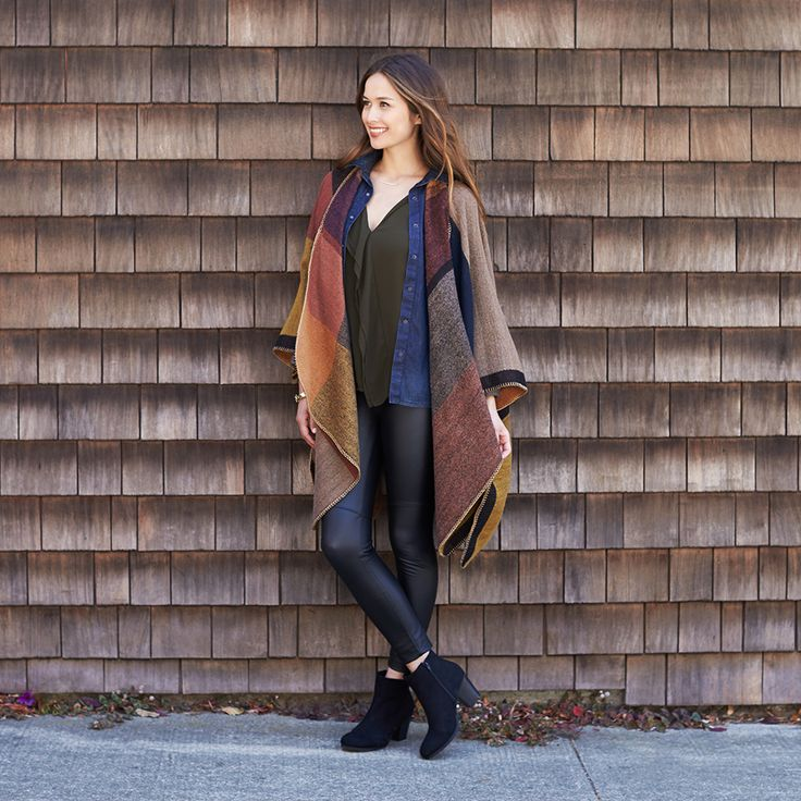 As if you needed MORE reasons to wear leggings. Get autumnal with a stunning layered legging look. #StylistTip
