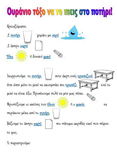 Ο κήπος με τα χρώματα!: Πειράματα με το ουράνιο τόξο