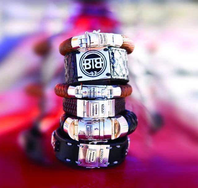 Silver with leather bracelet  www.ajuweliers.nl