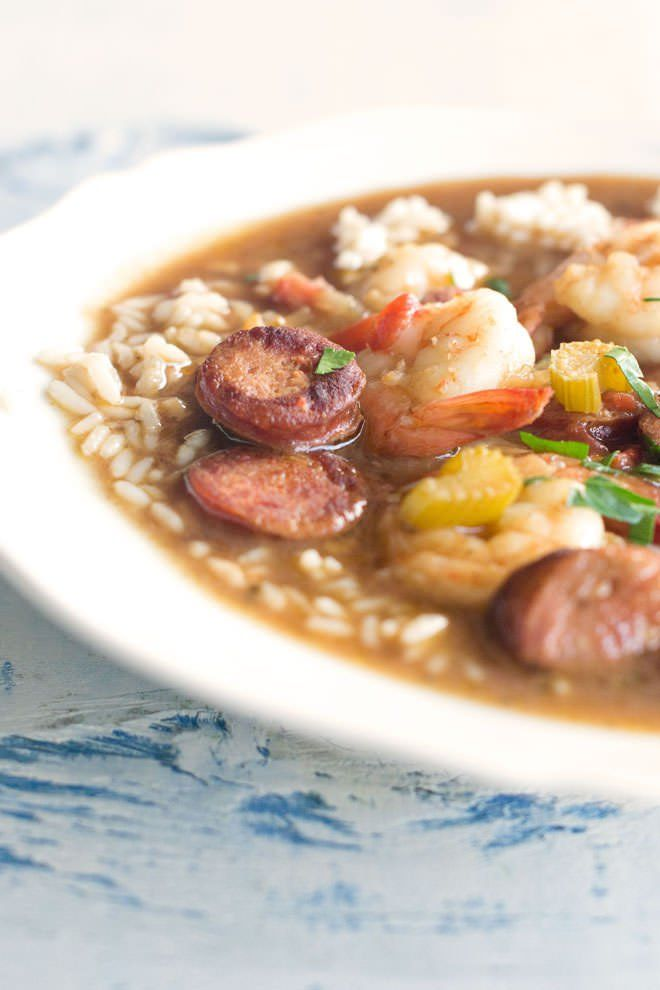 Easy Shrimp Gumbo with Andouille Sausage