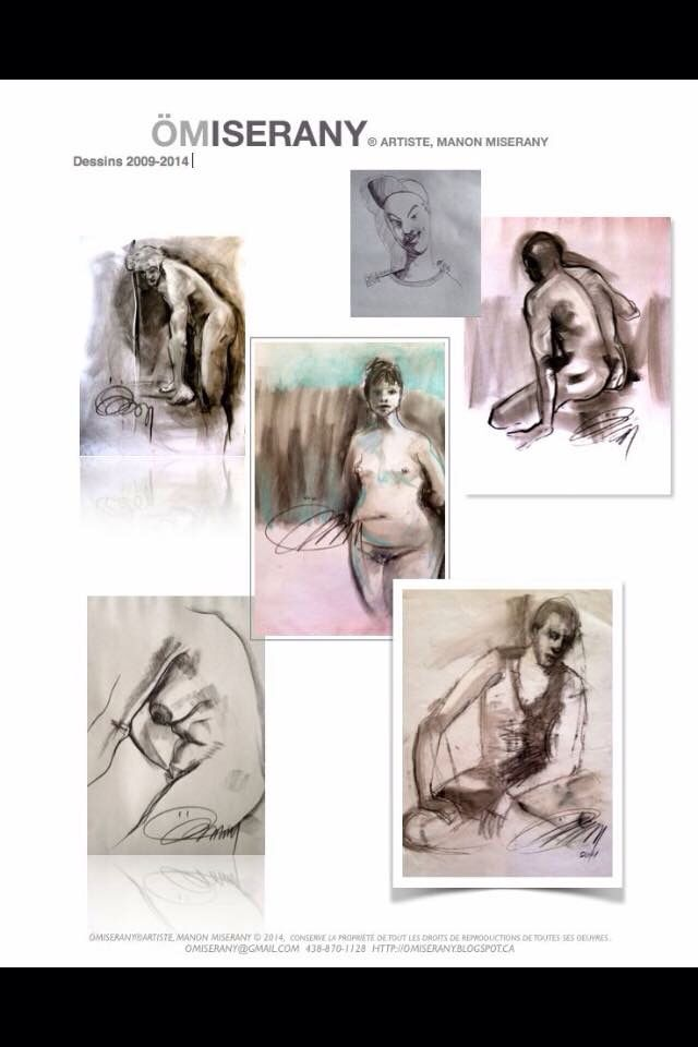 Dessin fusain ÖMiserany  disponible à l'atelier www.omiserany.com