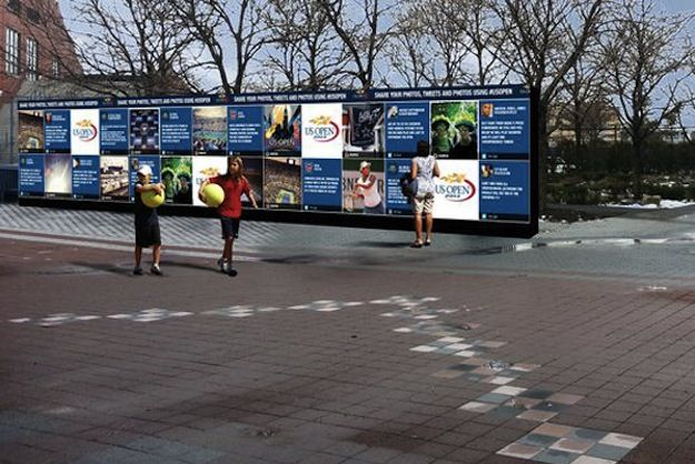 U.S. Open To Debut A Giant Social Media Wall To Engage Fans Worldwide - PSFK