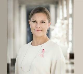 Crown Princess Victoria Patron Of Sweden's Pink Ribbon Day, October 1, 2015.