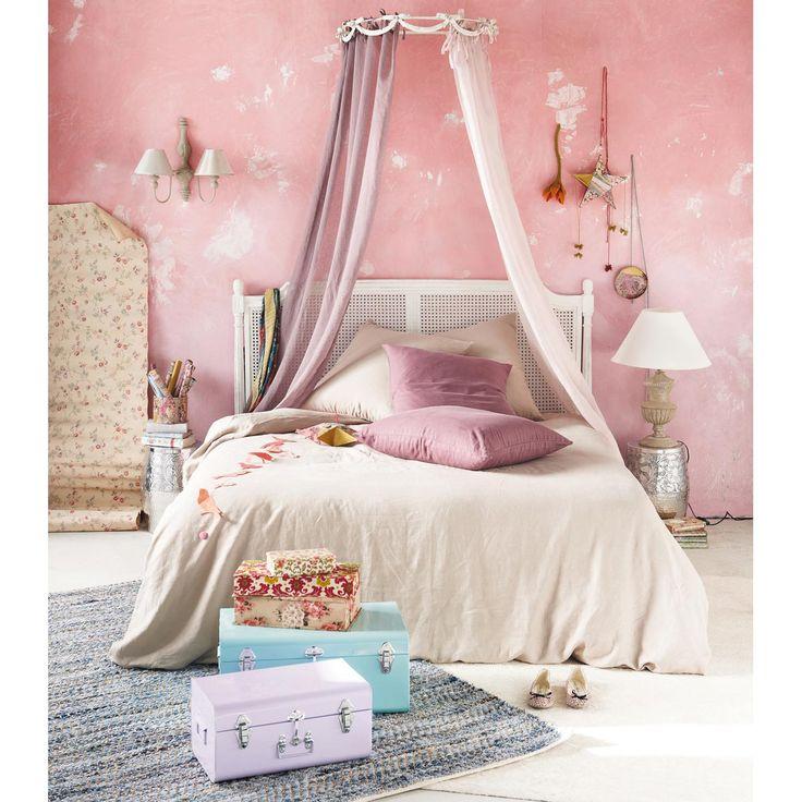 ciel de lit en m tal beige l 77 cm rosalie. Black Bedroom Furniture Sets. Home Design Ideas