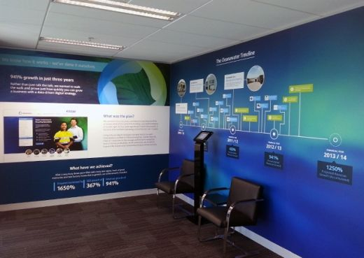 Ever think about using a wall mural as a marketing tool in the reception area of your office? That's exactly what this Melbourne based company did!