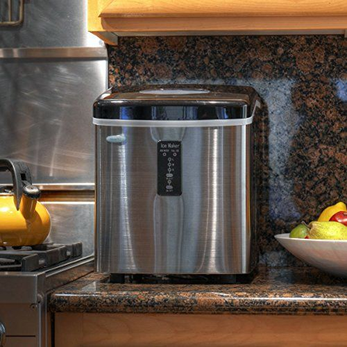 NewAir AI-100SS 28-Pound Portable Ice Maker, Stainless Steel - http://www.our-shopping-store.com/appliances.asp