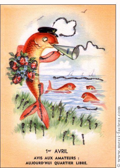 Joyeux 1er avril ! Profitez du 1er avril pour faire des farces à vos amis émoticône smile http://www.merci-facteur.com/cartes/rub32-1er-avril.html #poissondavril #1eravril #humour Carte Avis aux amateurs du 1er Avril pour envoyer par La Poste, sur Merci-Facteur !