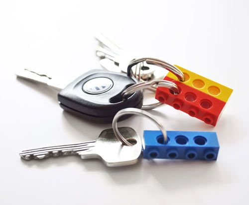 I like how you can separate your keys out if you don't want to carry them all and then just stack the LEGOs when you want to take more than one with you.