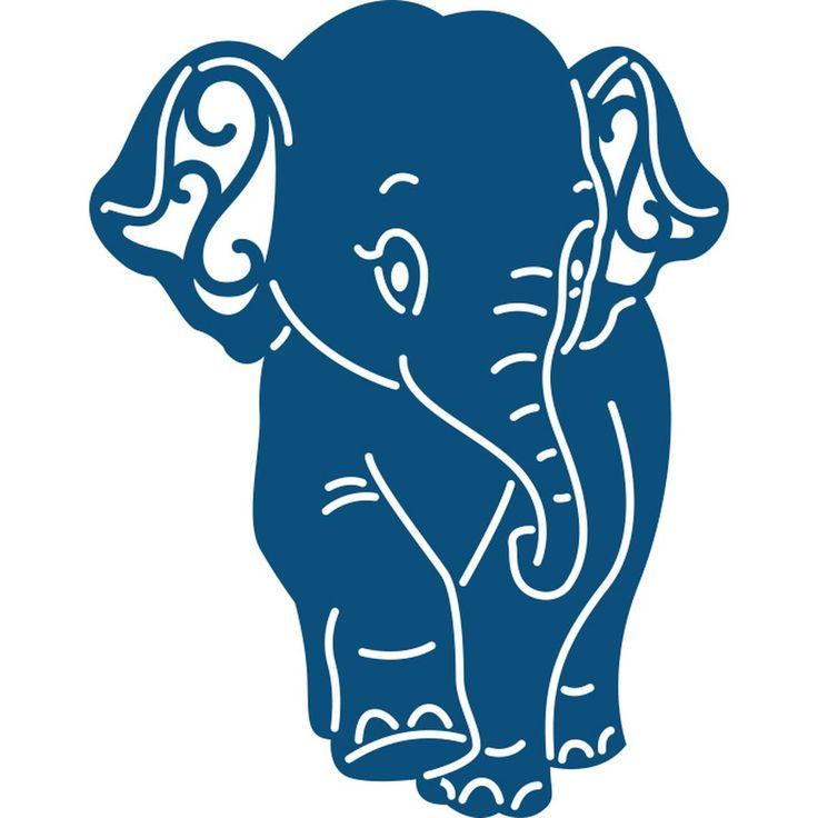 Tattered Lace Ellie Elephant Die 4.6 X 5.8 Cm | Hobbycraft