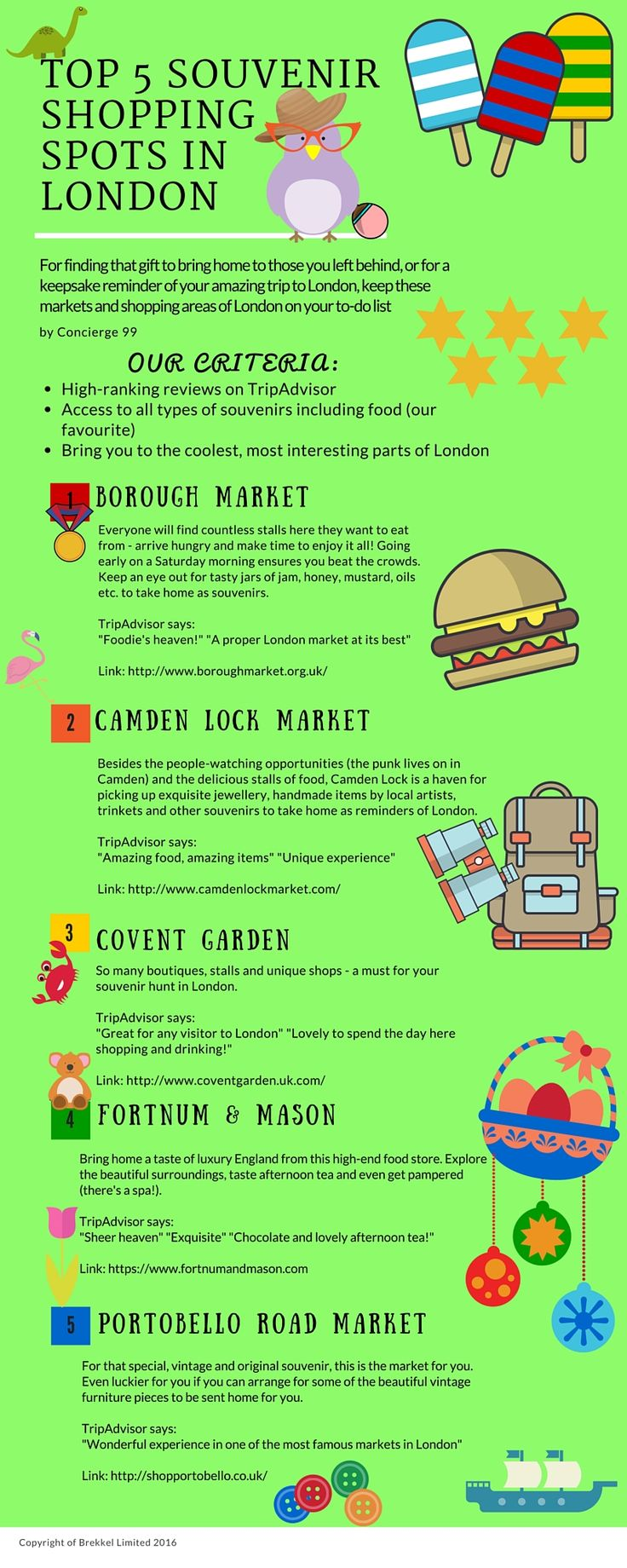 For finding that gift to bring home to those you left behind, or for a keepsake reminder of your amazing trip to London, keep these markets and shopping areas of London on your to-do list.  Top 5 Guide  Best Souvenir Shopping Spots in London Best Things to Do in London Best Things to See in London Best of Where to Go in London