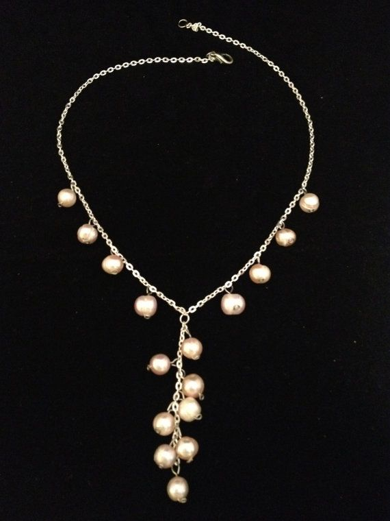 Necklace with light pink nuance freshwater by NotYourMomsJewellery, $40.00