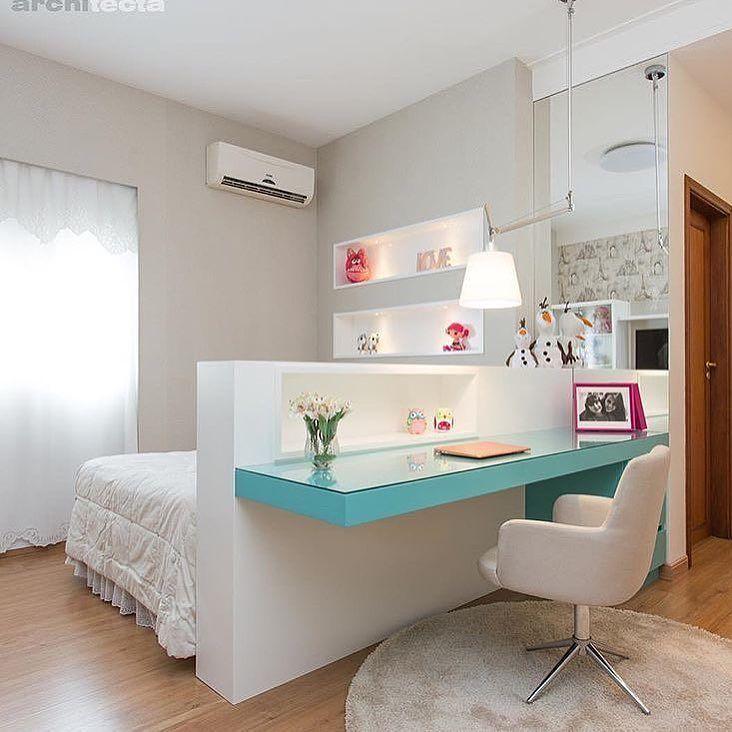 Boa noite com este lindo quartinho via @decoremais. Amei Me encontre também no @pontodecor {HI} Snap: hi.homeidea www.homeidea.com.br #bloghomeidea #olioliteam #arquitetura #ambiente #archdecor #archdesign #hi #cozinha #homestyle #home #homedecor #pontodecor #homedesign #photooftheday #love #interiordesign #interiores #picoftheday #decoration #world #lovedecor #architecture #archlovers #inspiration #project #regram #canalolioli #quartomenina
