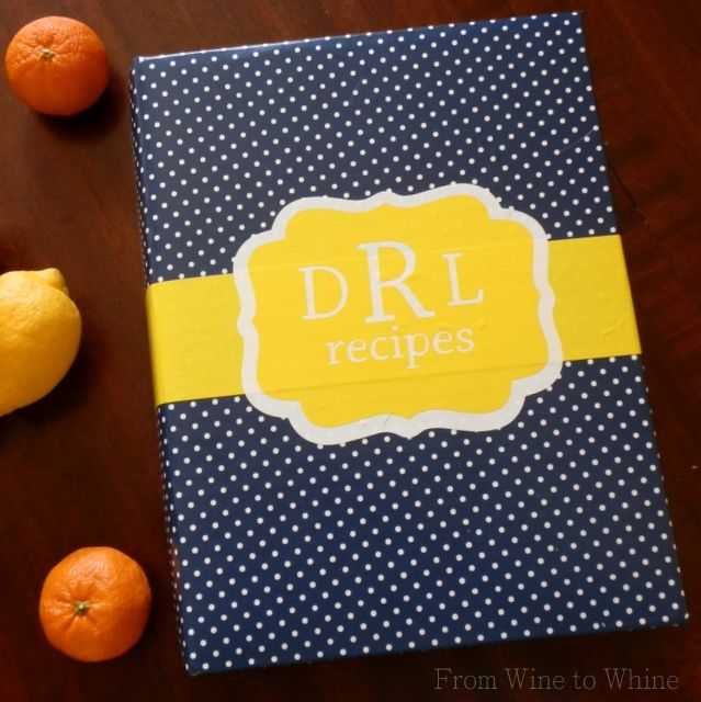 Update your Recipe Book (or any binder) with your Silhouette & Vinyl