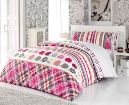 Купить постельное белье ALTINBASAK MELODY розовое 70х70 1,5-сп от производителя Altinbasak (Турция)