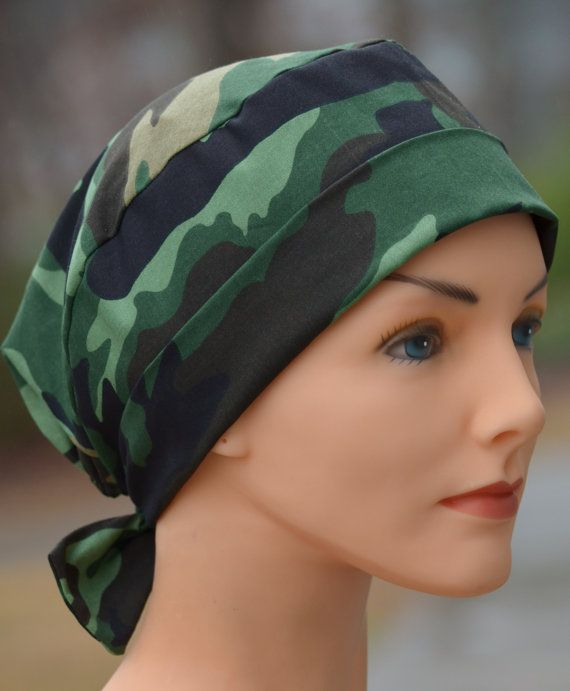 Scrub Hat or Chemo Cap- The Mini- Camouflage