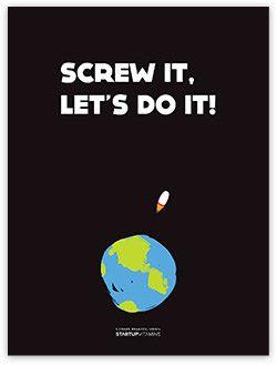 "Canvas ""Screw it, let's do it"""