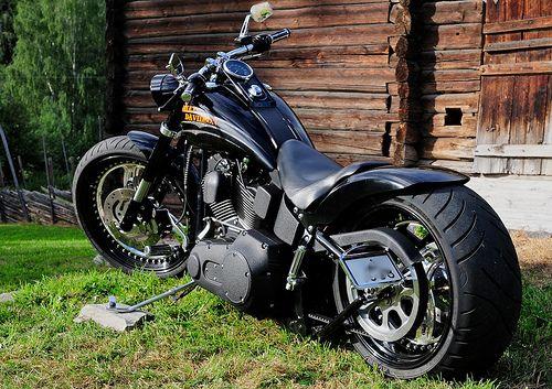 Harley Davidson Softail Night Train left side | Custom built… | Flickr