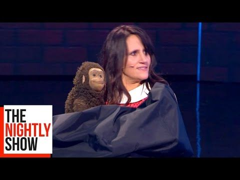 Nina Conti Has Some Fun with Her Monkey | The Nightly Show - YouTube