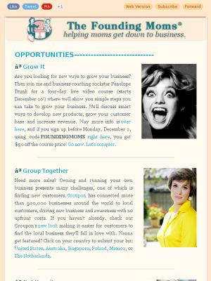 http://www.FoundingMoms.com Check out our latest opportunities for mom entrepreneurs!