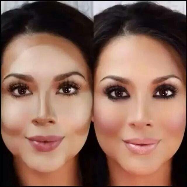 Maquillaje para rostro redondo
