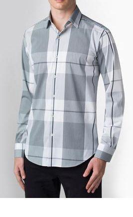 Bugatchi Men's Stripes and Checks Shirt in black