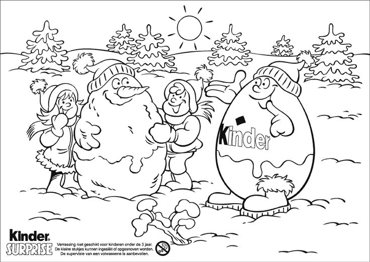 Kinderino Kinder Surprise Coloring