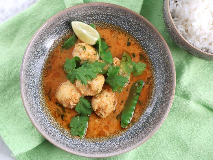 Fiskbullar med ingefära och röd curry | Recept från Köket.se