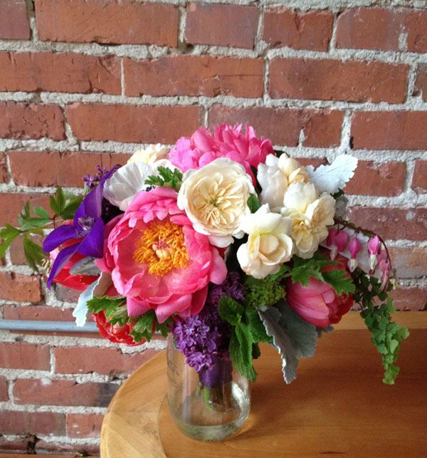 flirty fleurs floral design workshop bouquet designed by mary ann mary ann nguyen bridal bouquet of coral charm peonies white garden roses