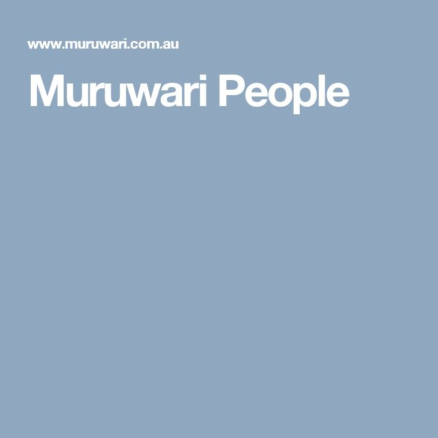 Muruwari People