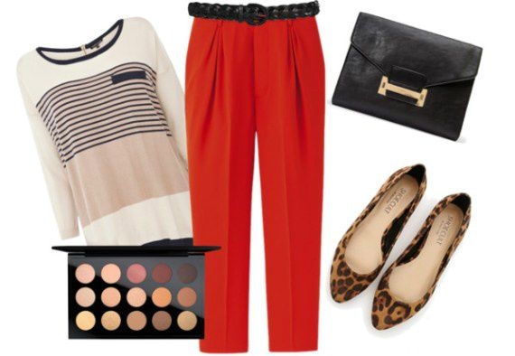 What's your casual Friday look? I love these red trousers for summer workwear.