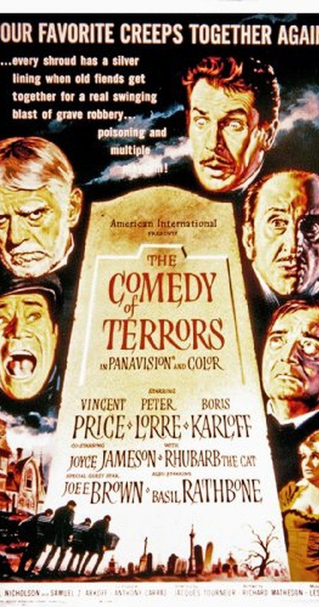 Directed by Jacques Tourneur.  With Vincent Price, Peter Lorre, Boris Karloff, Joyce Jameson. Dishonest undertaker Waldo Trumbull and his sidekick Felix Gillie are creating their own customers when they cannot find willing ones.