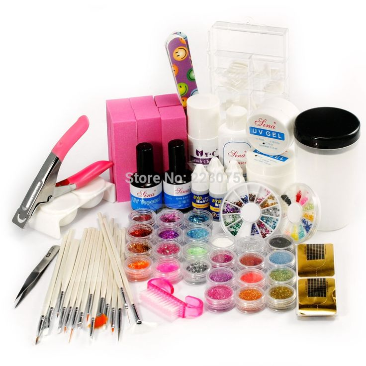 48.99$  Buy here - http://aiyfs.worlditems.win/all/product.php?id=32607364104 - New Real Pedicure Manicure Acrylic Nail Kit Hot 52 Full Set Nail Art Advanced Combo Uv Gel Brush Decoration Tips Kit