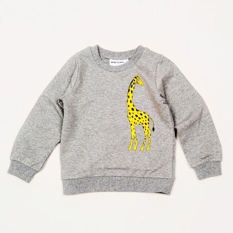 Mini Rodini, genser med print av giraff Sweatshirt with print. Rib at cuff, neckhole and bottom. Composition: 95% organic cotton 5% Elastane. GOTS certified