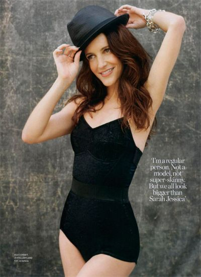 Kristin Davis in Red Magazine