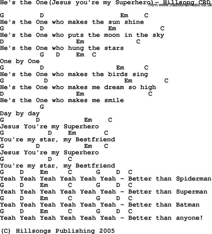 Gospel Song: He's The One(Jesus You're My Superhero