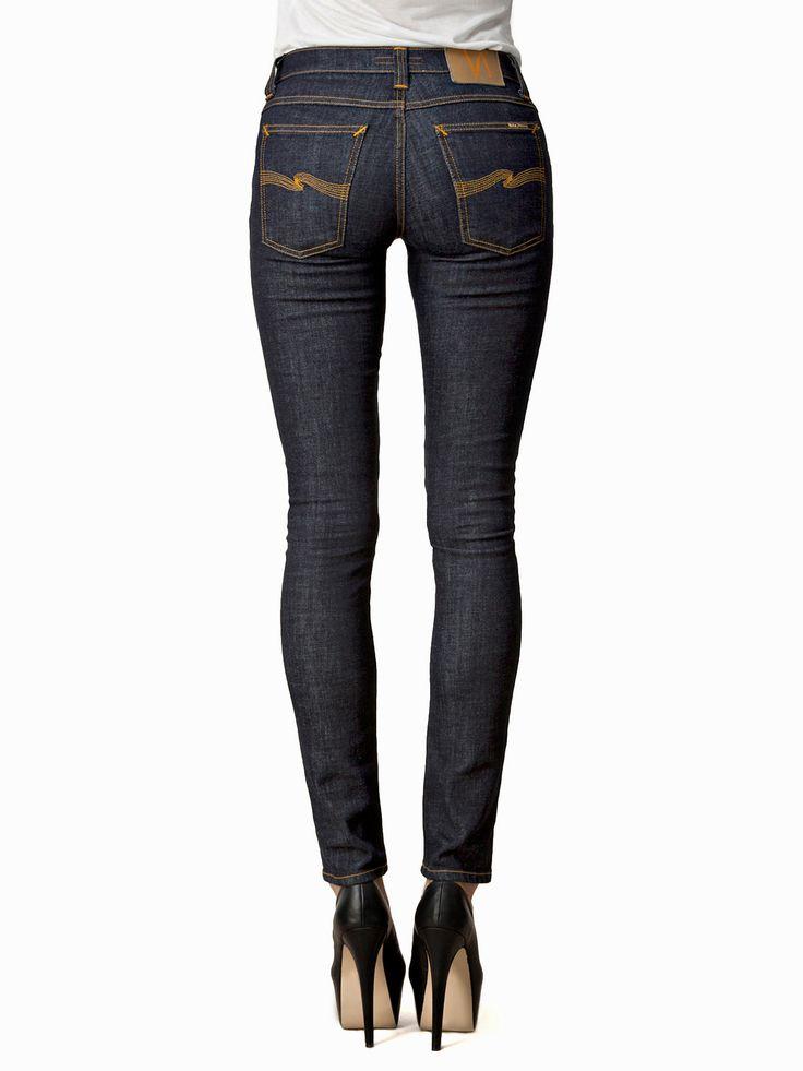Tight Long John Organic Twill Rinsed - Nudie Jeans - Denim Blå - Jeans - Kläder - Kvinna - Nelly.com