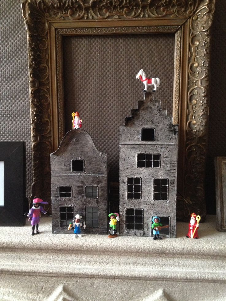 Sinterklaas Display Inspiration....OK, I have all the figurines, now to get the houses!!